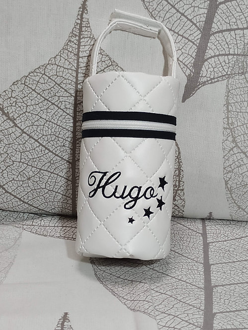 Portachupetes (chupetero) bebé personalizado-MODELO HUGO BLANCO