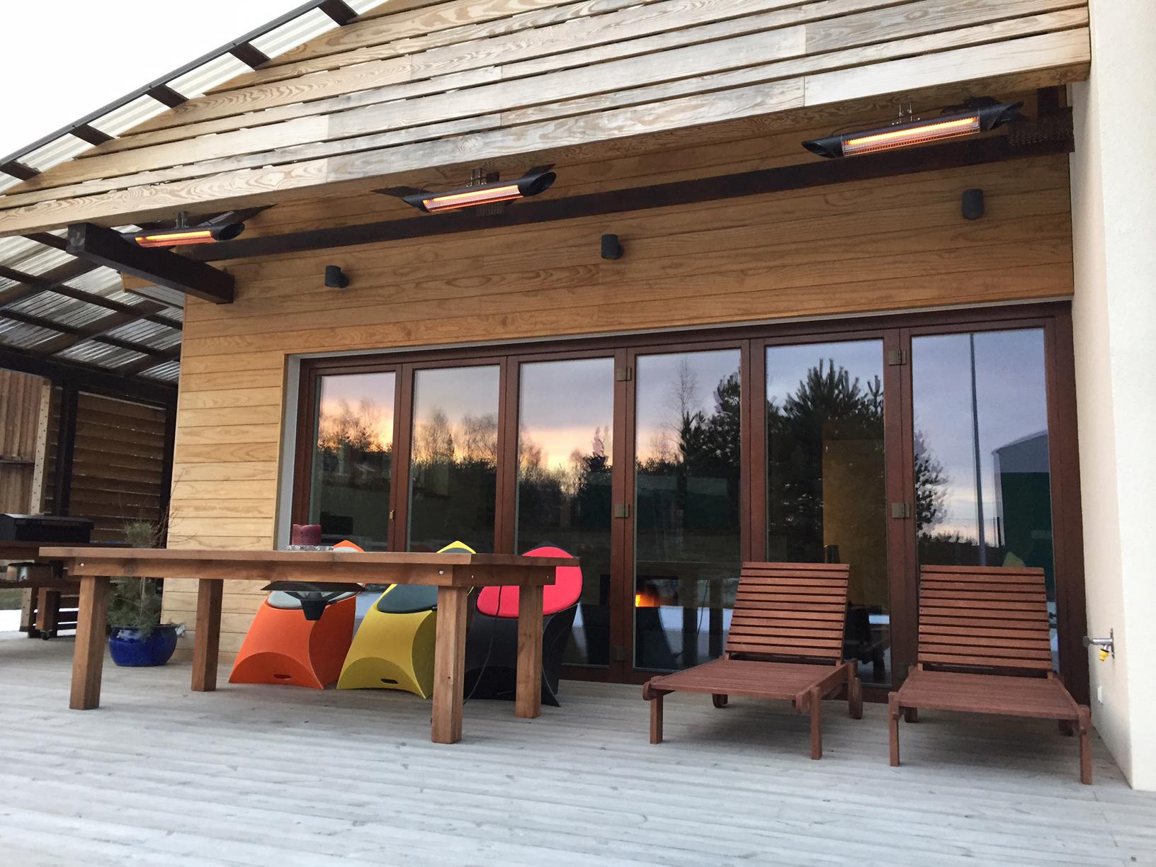 Calefacción para porches y terrazas
