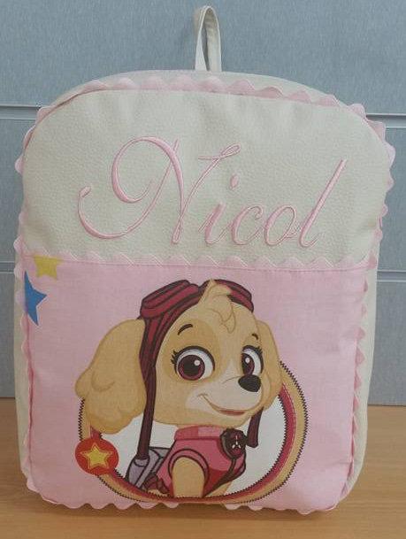 Mochila infantil personalizada Patrulla Canina Skye-NICOL
