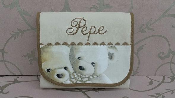 Cambiador portátil y plegable para el bolso del bebé combinado osos-MODELO PEPE