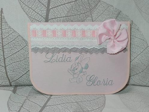 Porta toallitas y pañales gemelar personalizado- Incluye 2 nombres + 1 dibujo