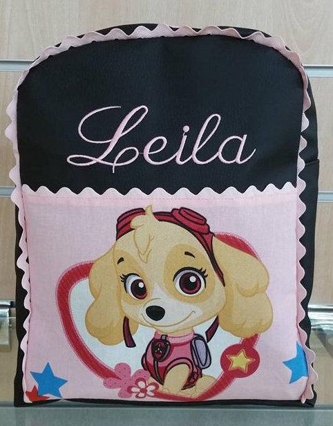 Mochila infantil personalizada Patrulla Canina-LEYLA