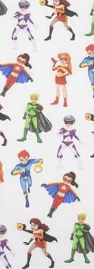 bata-escolar-super-héroes