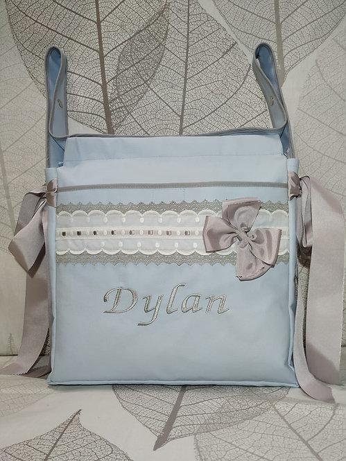 Bolso (Talega) para silla y cochecito de bebé bordado y personalizado-MOD. DYLAN