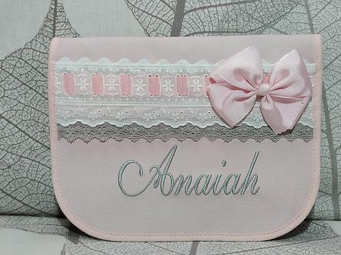 Porta toallitas y pañales  personalizado bebé- MODELO ANAIAH
