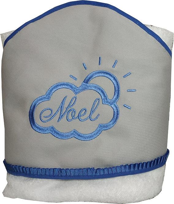 Toalla-capa de baño para bebé bordada y personalizada-MODELO NOEL
