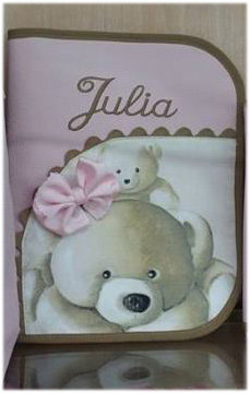 Portatoallitas y portapañales bebé personalizado  2 en 1- MODELO JULIA