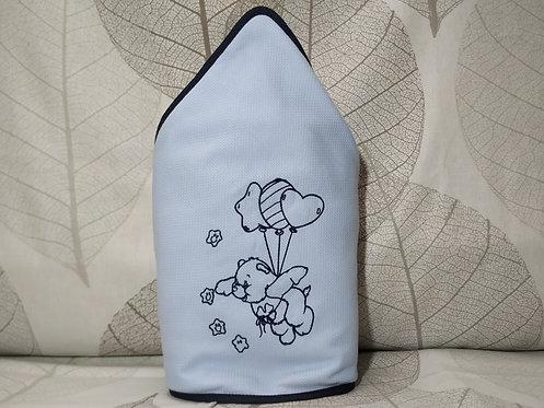 Capa para el baño del bebé (toalla-capa) personalizada con nombre -OSITO GLOBOS
