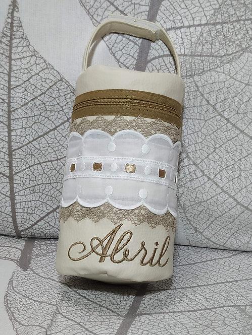 Portachupetes (chupetero) bebé personalizado-MODELO ABRIL