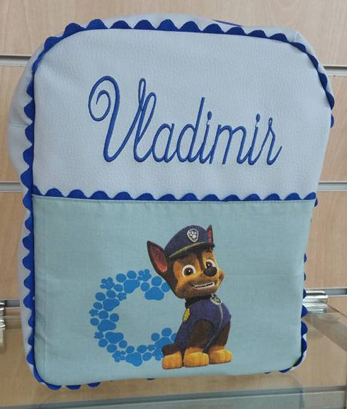 Mochila infantil personalizada Patrulla Canina-VLADIMIR
