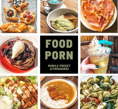 food porn lightroom preset