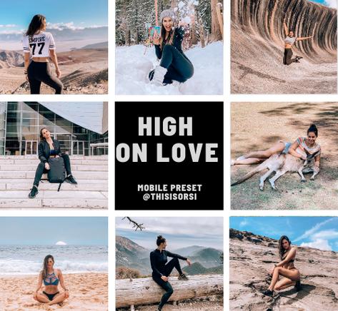 high on love lightroom preset