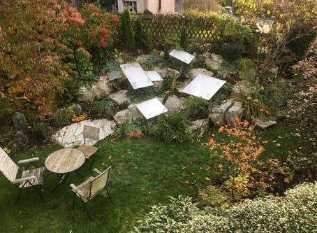 Der Steingarten ist eingewintert