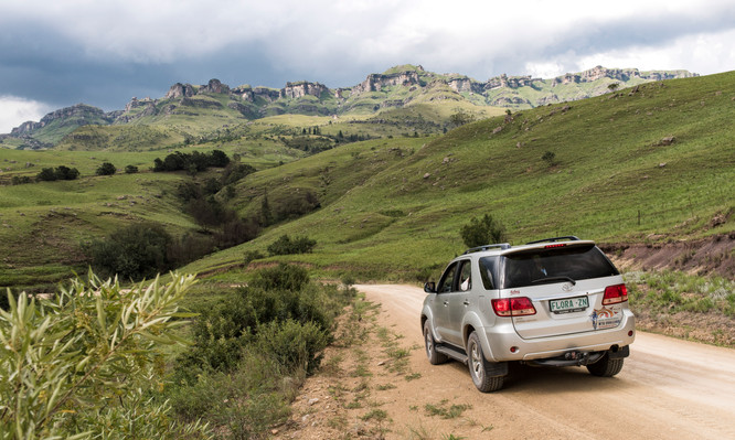 Unterwegs in den Drakensbergen mit dem 4x4