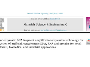 New publication in Materials Science & Engineering C