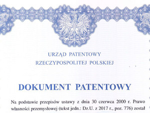 Patent for Republic of Poland