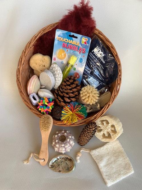Touchy-Feely Sensory Treasure Basket
