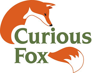 Curous Fox Company master logo contains a red fox with the wording 'Curious Fox'.jpg
