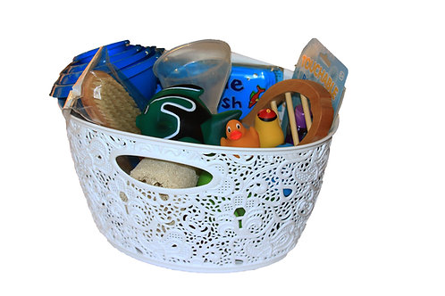 Treasure basket that encourages water play