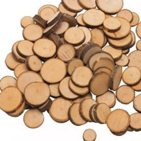 Wood slices, perfect for heuristic and small world play in the early years.