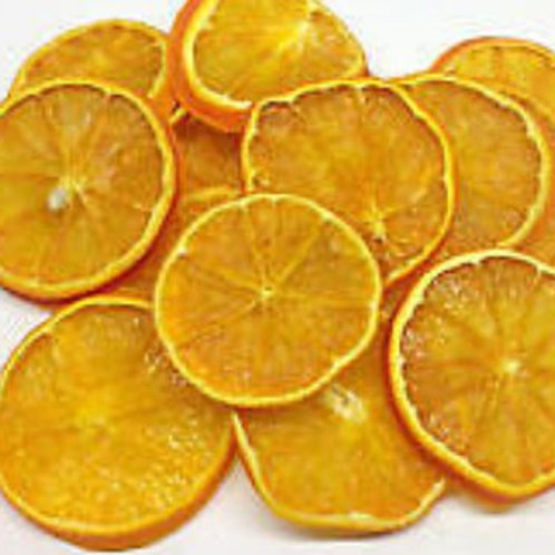 Dried orange slices, for sensory play  during the early years as an educational resource