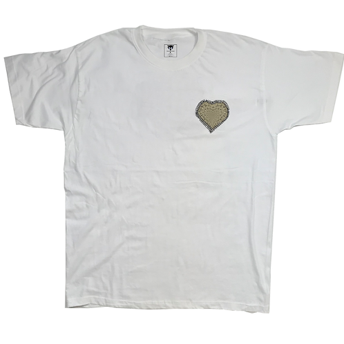 Black Love White Tee