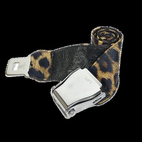 Leather Cheetah Belt
