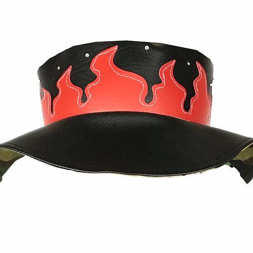 Camo-Flame Bucket Hat