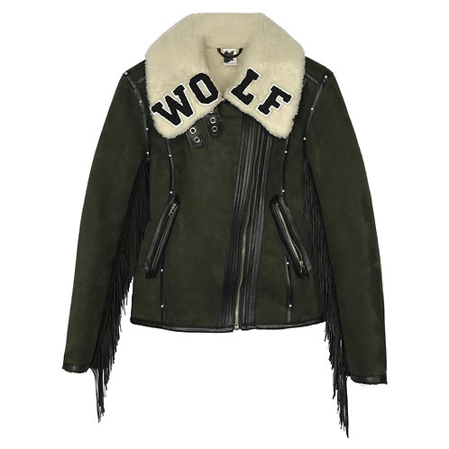 WOLF Shearling Fringe Jacket