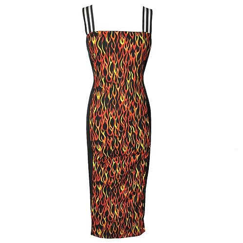 Leveled Flame Dress
