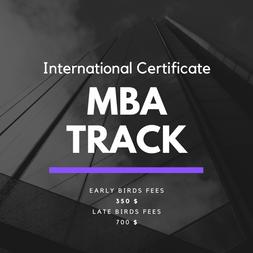 NEW International Certificate 'MBA Track' Program Released