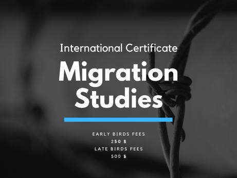 Top Class International Certificate In Migration Studies Is Open