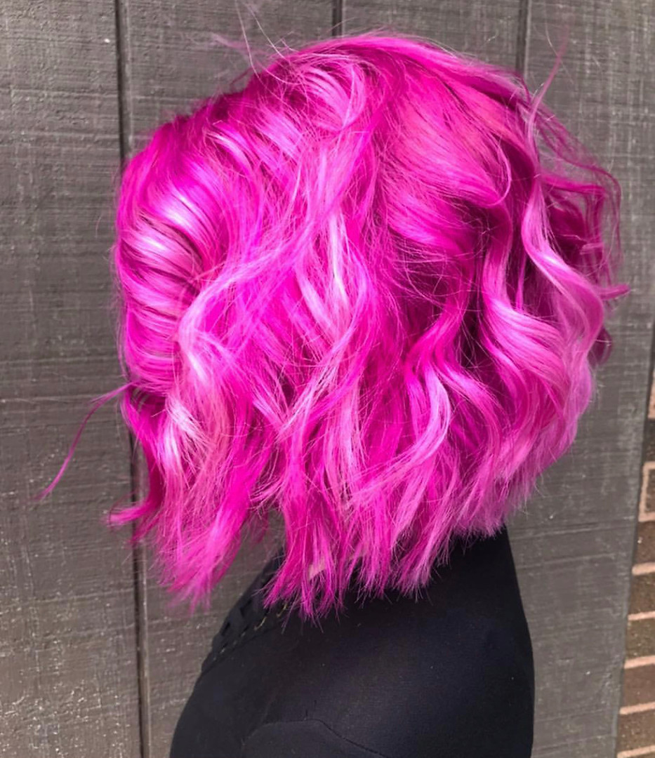 fantasy pink hair color