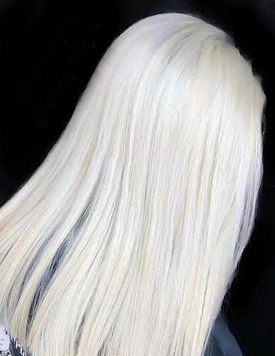 icy blonde hair
