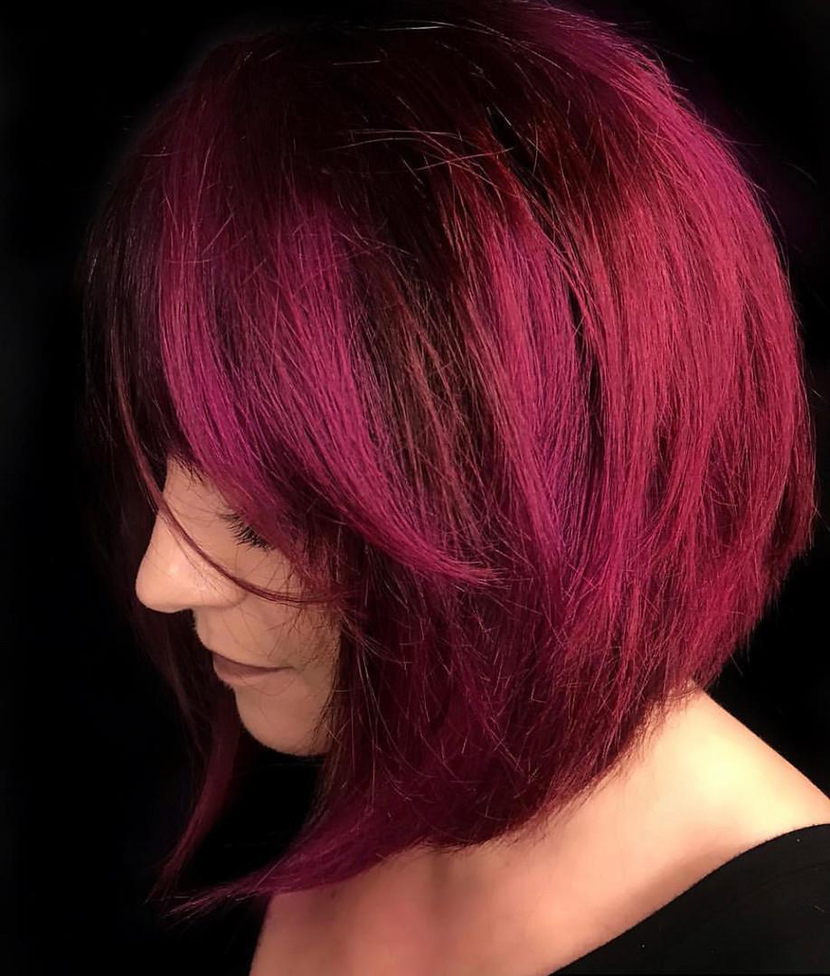 red short hair