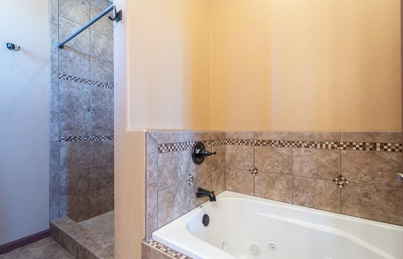 Tiled Shower & Jetted Tub