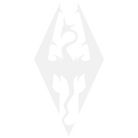 Skyrim Logo White