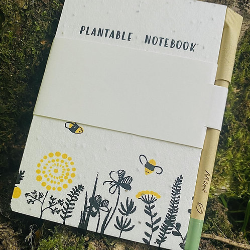 Plantable notebook and plantable pen