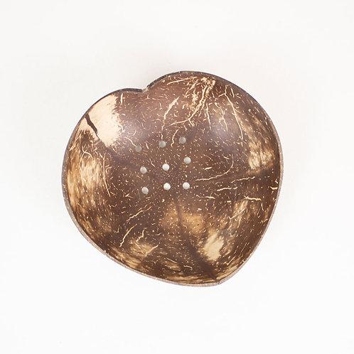 Huski Home sustainable coconut wood soap dish - heart