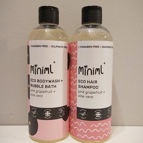 Bodywash and bubble bath and Hair Shampoo duo