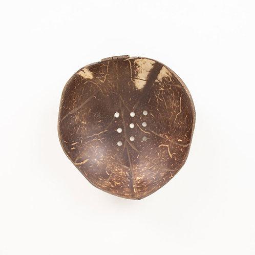 Huski Home sustainable coconut wood soap dish - Leaf