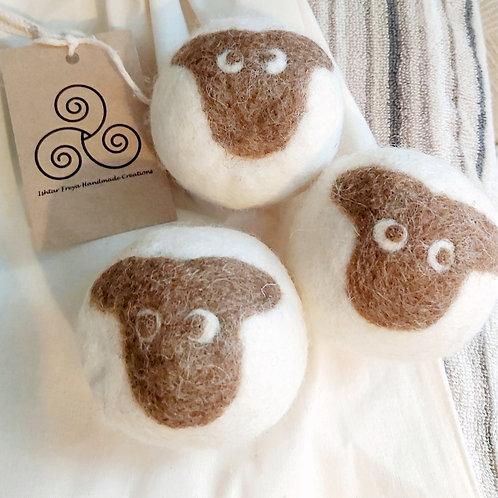 Handmade tumble dryer balls