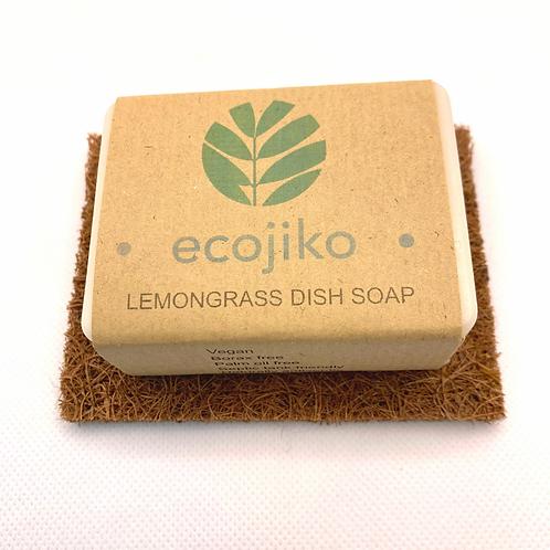 ecojiko Lemongrass Dish Soap & Coconut Coir Soap Rest