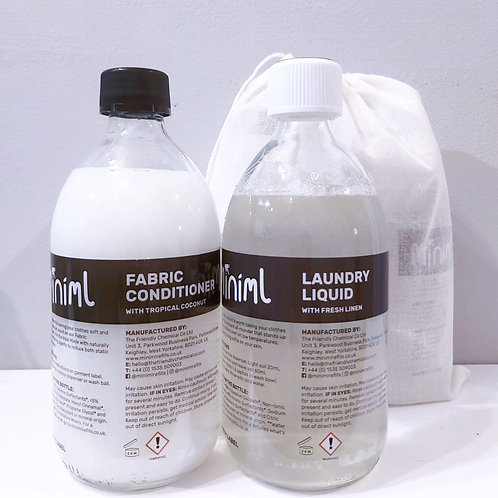 Laundry Liquid and Fabric Conditioner Duo (glass bottle)