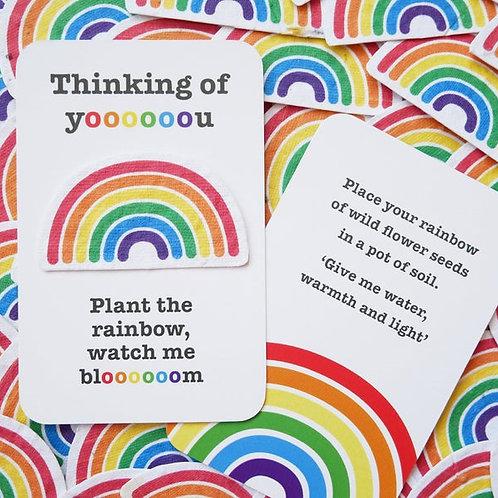 Plantable rainbow cards