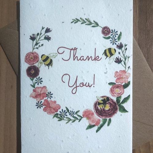 Plantable 'Thank You' card