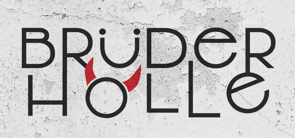 Das Logo der neuen Brüderhölle - ähm Brüderhalle - entstanden nach einer Idee und in Zusammenarbeit mit Das federWERK