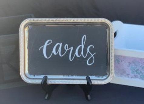 CARDS CHALKBOARD SIGN