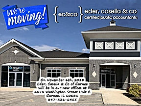 New Gurnee Office we're moving postcard.