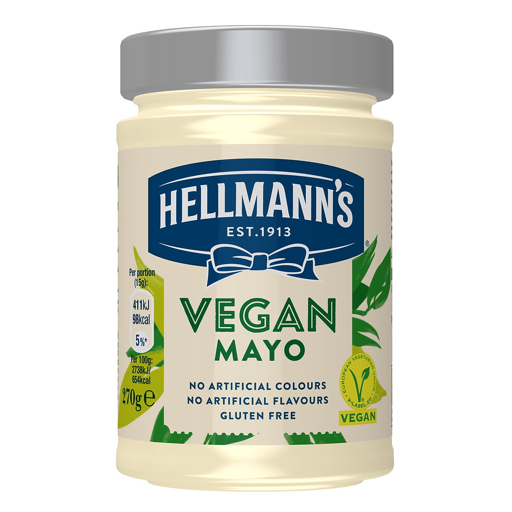 a picture of a jar of Hellman's vegan mayo